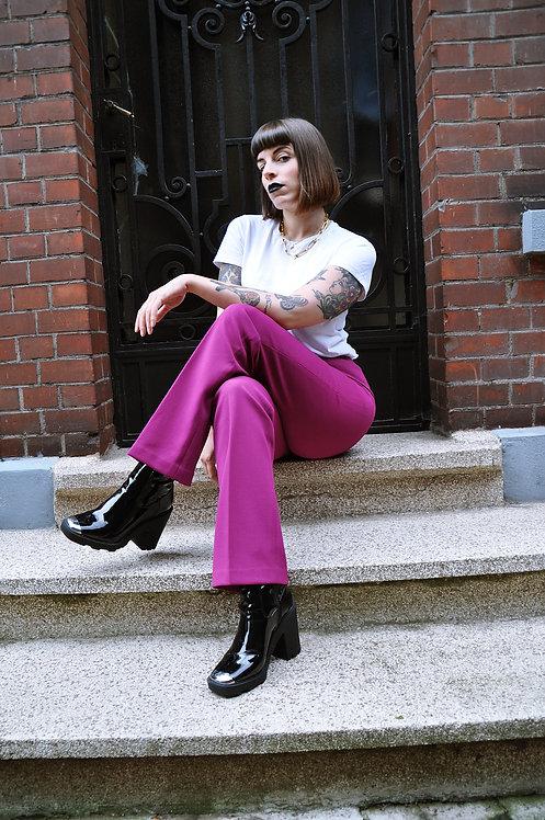 Pantalon à pinces fuchsia 60's