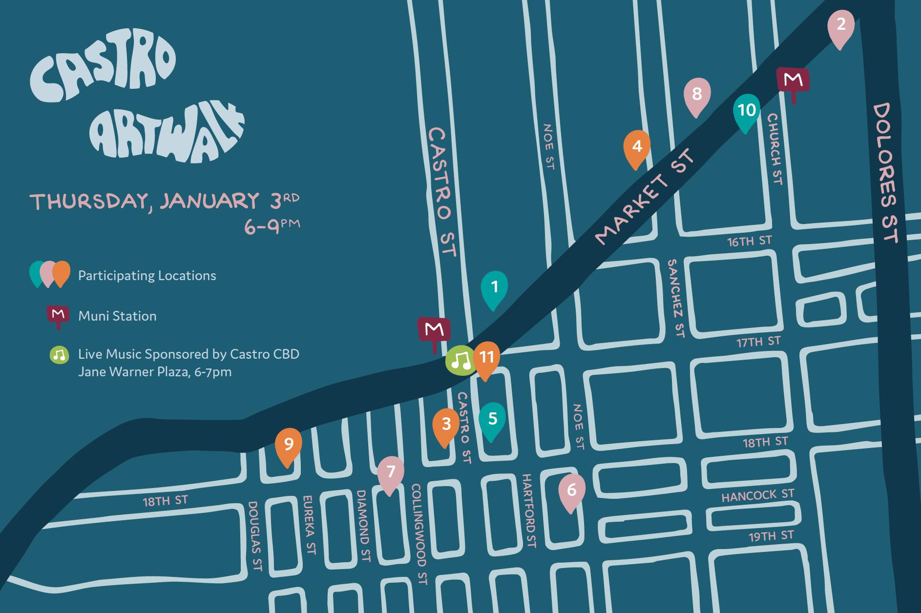 Castro Art Walk- January 2018