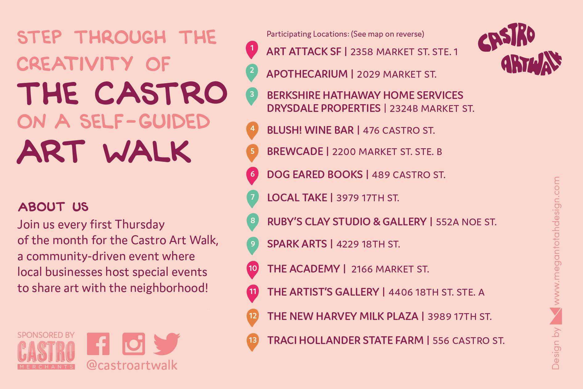 Castro Art Walk- February 2018 Back