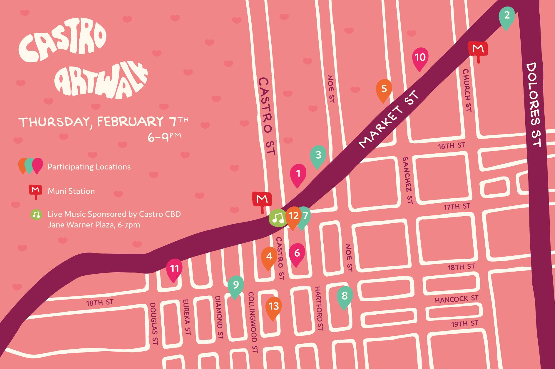 Castro Art Walk- February 2018 Front