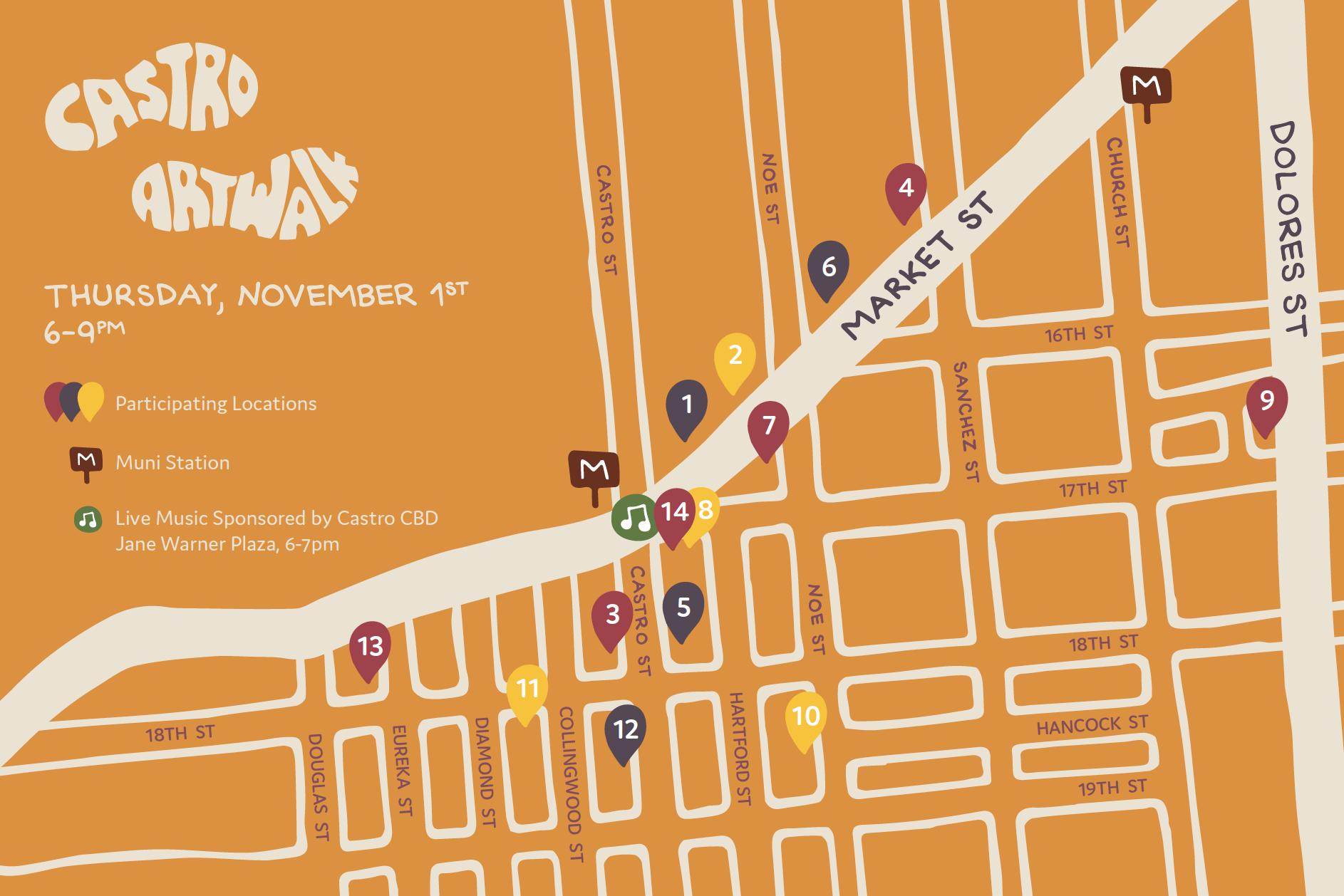 Castro Art Walk- November 2018