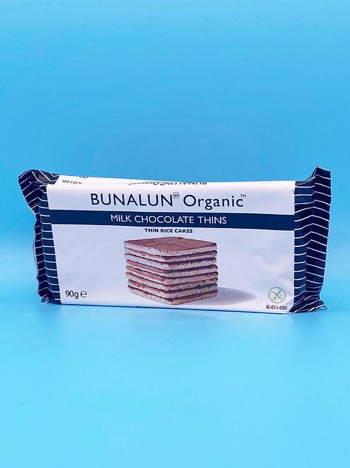 Bunalun Organic Milk Chocolate Thin Square Rice Cakes☘️  🧡