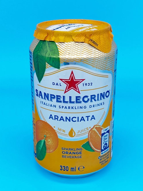 San Pellegrino Orange Cans 6 pack