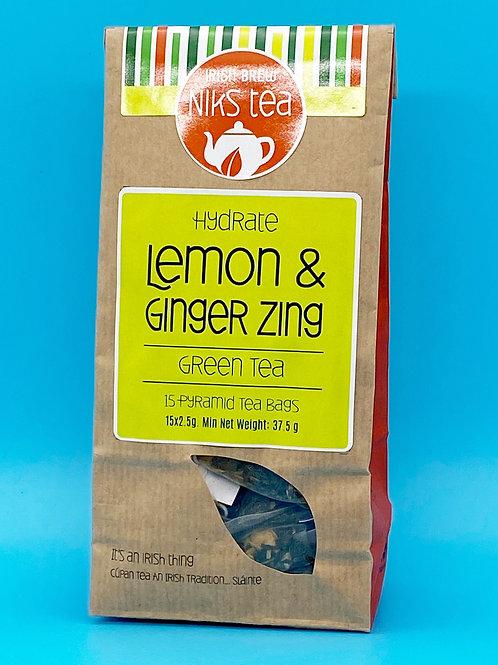 Niks Tea Irish Brew Lemon & Ginger Tea Bags☘️  🧡