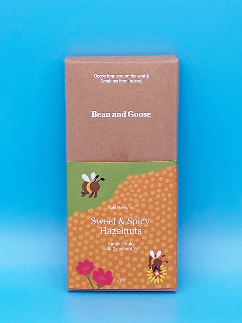 Bean and Goose Chocolate Sweet and Spicy Hazelnut☘️  🧡