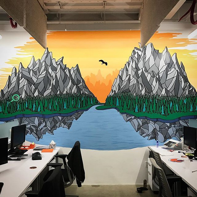 Criteo Office East Wall