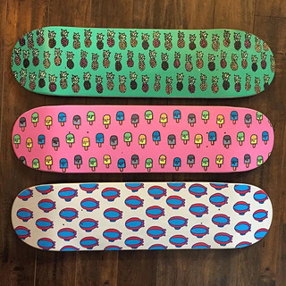 Happy Friday 💥 Hand painted skateboards now for sale. More to come. Email me questions. Details in bio.jpg