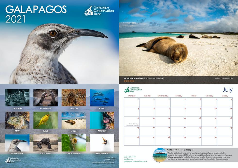 Galapagos calendar 2021