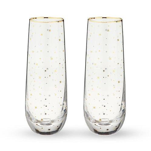 Set of 2 Starlight Champagne Flute