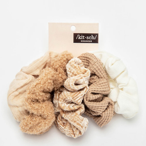 Sand/Nude Scrunchie Set