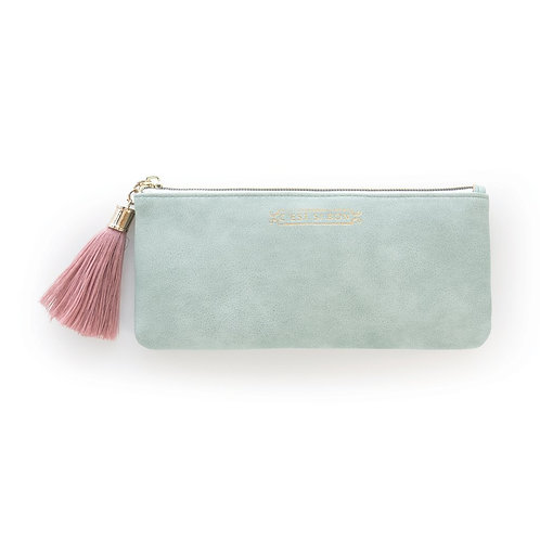 """C'EST SI BON"" Vegan Leather Tassel Pouch"