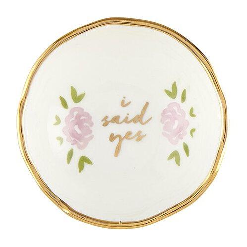 "Ceramic ""I Said Yes"" Trinket Dish"