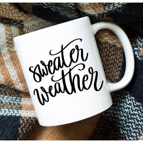"""""""Sweater Weather"""" Coffee Mug"""