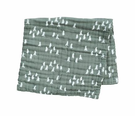 Mebie Baby Forest Pines Muslin Burp Cloth