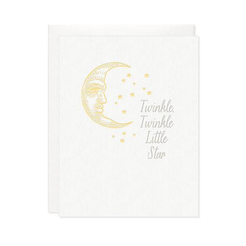 """Missive Press """"Twinkle Twinkle"""" Letterpress Notecard"""