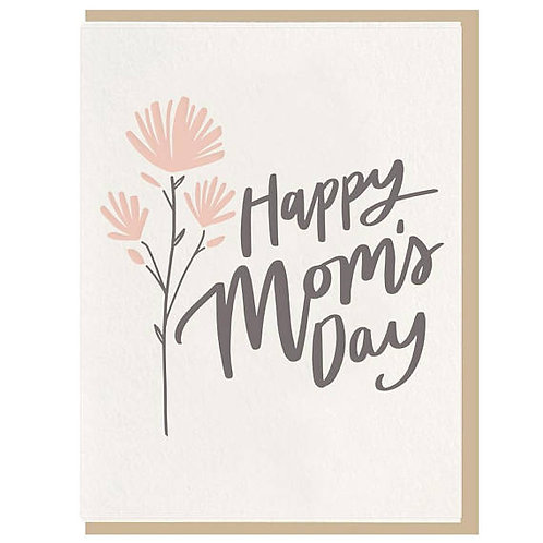 "Dahlia Press ""Happy Mom's Day"" Letterpress Notecard"