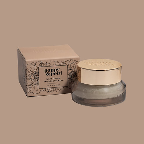 Poppy and Pout Island Coconut Lip Scrub