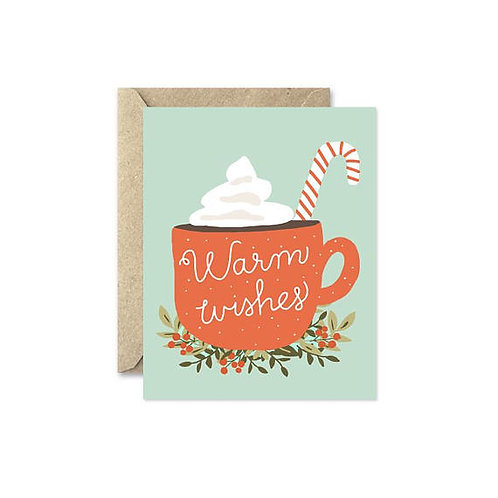 August & Oak Warm Wishes Holiday Notecard