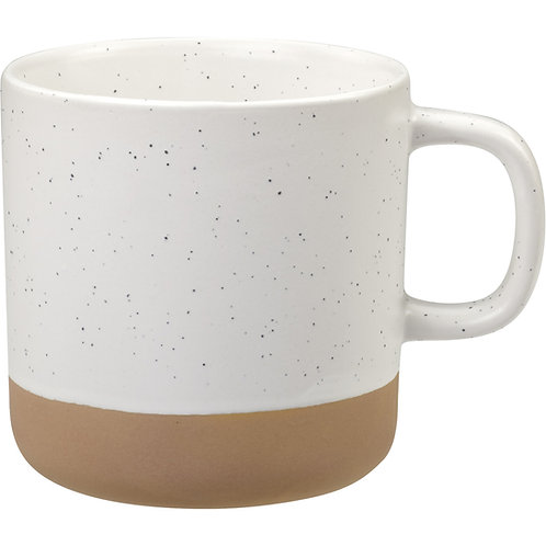 Speckled Ceramic and Terra Cotta Mug