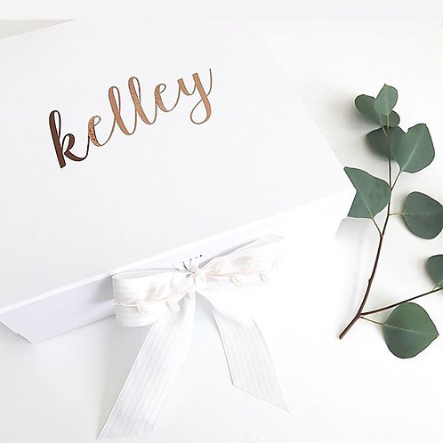 Large Personalized Ribbon Closure White Box