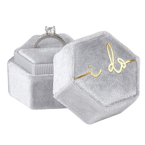 """Velvet """"I Do"""" Ring Box"""