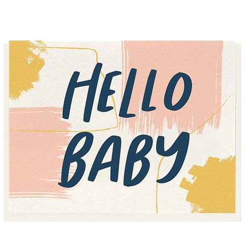 "Dahlia Press ""Hello Baby"" Letterpress Notecard"