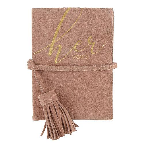"Suede ""Her Vows"" Vow Book"