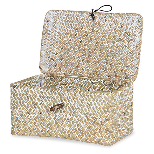 Whitewashed Seagrass Hamper