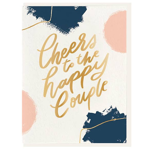 """""""Cheers to the Happy Couple"""" Letterpress Notecard"""