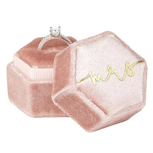 """Velvet """"Mrs"""" Ring Box"""