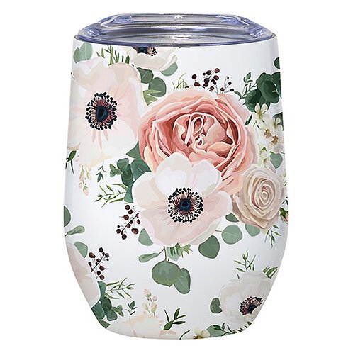 Floral Insulated Wine Tumbler