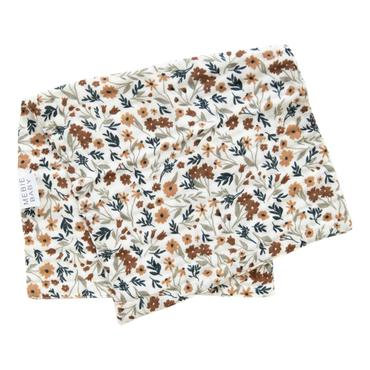 Mebie Baby Harvest Floral Muslin Burp Cloth