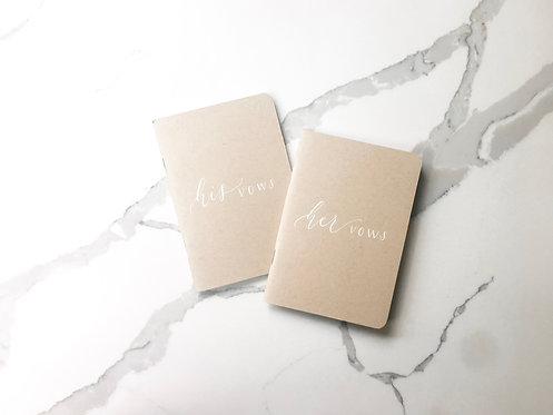 Set of 2 His and Hers Vow Books