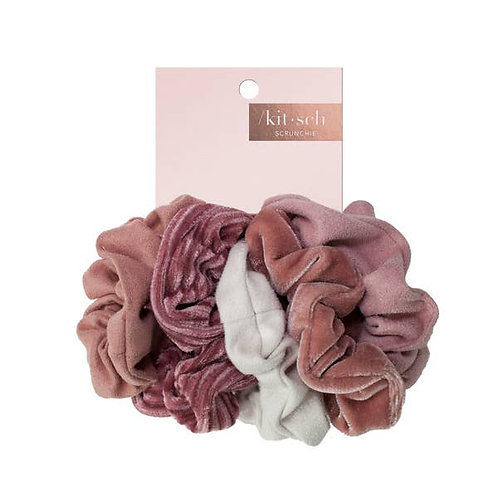 Blush/Mauve Scrunchie Set