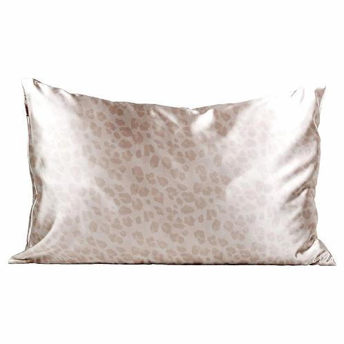 Satin Pillowcase - Nude Leopard
