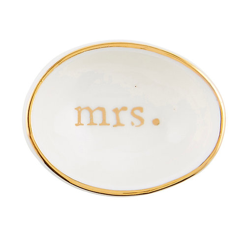 Ceramic Mrs. Ring Dish