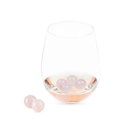 Rose Quartz Chilling Wine Gems