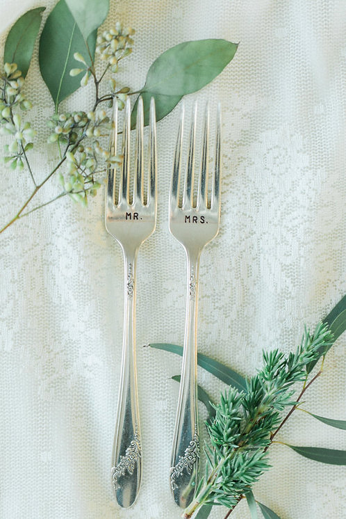 Mr. and Mrs. Stamped Forks