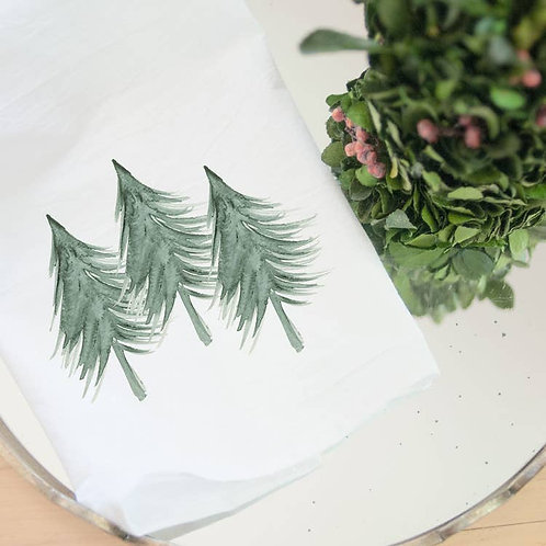 Evergreen Trees Kitchen Towel