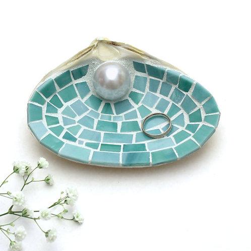 Mosaic Seashell Ring Dish