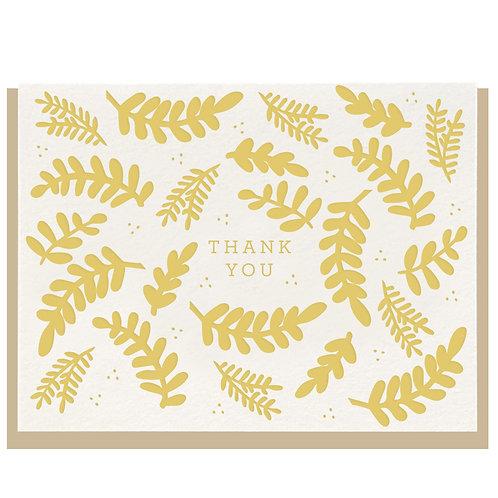 "Dahlia Press ""Floral Thank You"" Letterpress Notecard"