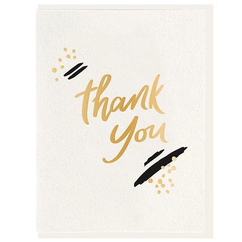 "Dahlia Press ""Thank You"" Letterpress Notecard"