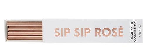Sip Sip Rosé Cocktail Straw Set