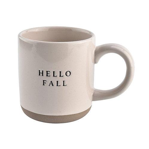 Hello Fall Ceramic Coffee Mug