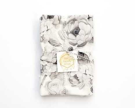 Honey Brush Design Floral Flour Sack Towel