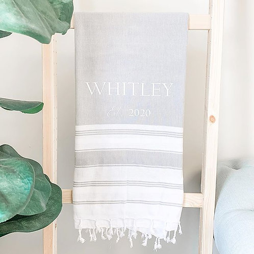 Custom Turkish Cotton Throw Blanket