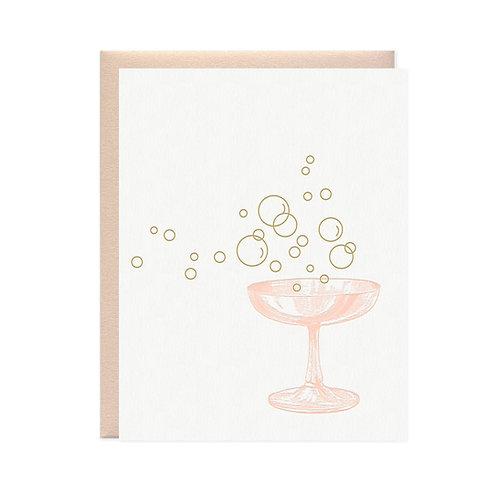 "Missive Press ""Bubbles"" Letterpress Notecard"