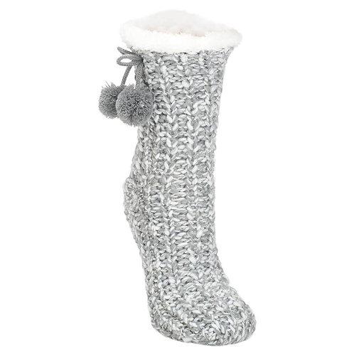 Knit Sherpa Lined Slipper Socks