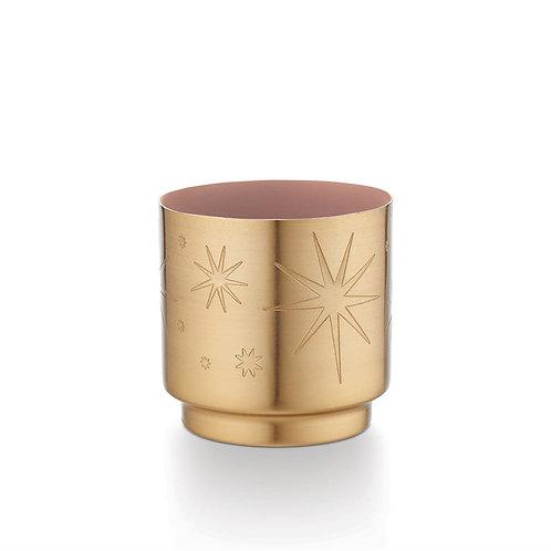 Illume Pink Pine Starburst Metal Candle