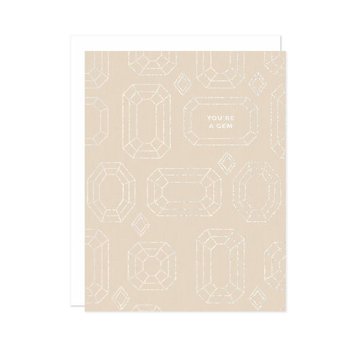 "Missive Press ""You're a Gem"" Letterpress Notecard"